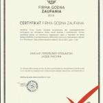 FIRMA GODNA ZAUFANIA 2016..